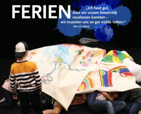 """Einladung zur Abschlusspräsentation """"Bewegungsgeschichten"""" in der Jugendkunstschule im Kreativhaus"""